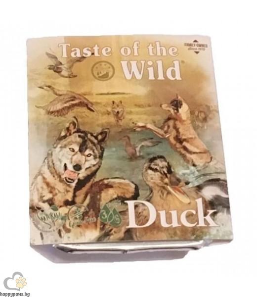 Терин за кучета с патешко и пилешко - Tаste of the wild Duck&Chicken dog tray, 390 гр.