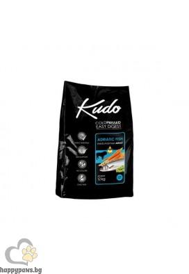 Kudo Low Grain Adult Dog Суха храна за кучета от средни и едри породи на възраст над 12 месеца с адриатическа риба, различни разфасовки