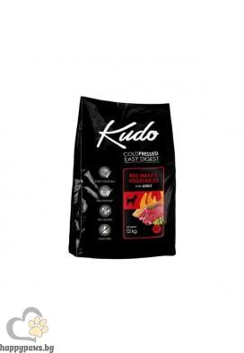 Kudo Low Grain Red Meat Adult Dog Суха храна за кучета от мини породи на възраст над 12 месеца с говеждо и свинско, различни разфасовки