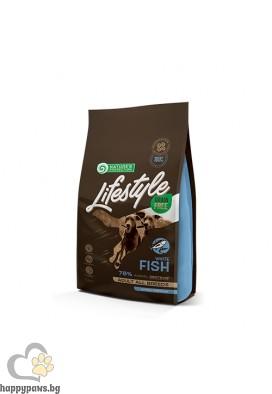 Nature's Protection Lifestyle - Grain Free Adult White Fish with Krill суха храна за израстнали кучета без зърно и глутен, бяла риба и крил, всички породи, различни разфасовки