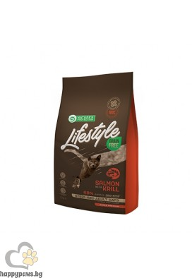 Nature's Protection Lifestyle - Grain Free Salmon with Krill Sterilised Adult Cat суха храна за кастрирани котки над 12 мес. без зърно и глутен, сьомга и крил, различни разфасовки