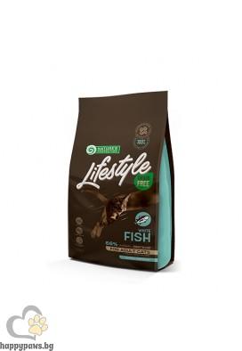 Nature's Protection Lifestyle - Grain Free Adult White Fish суха храна за котки над 12 мес. без зърно и глутен, бяла риба, различни разфасовки