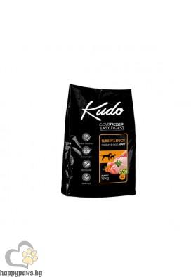 Kudo Low Grain Adult Dog Суха храна за кучета от средни и големи породи на възраст над 12 месеца с пуйка и патица, 12 кг