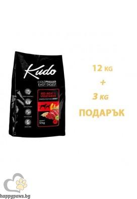 Kudo Low Grain Red Meat Adult Суха храна за кучета от средни и едри породи на възраст над 12 месеца, различни разфасовки