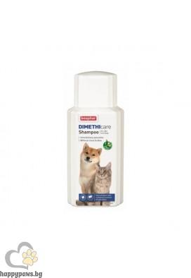 Beaphar Dimethicare Шампоан за куче и коте против бълхи, кърлежи, комари, пясъчни мухи и други, 200 ml