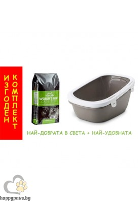 Комплект котешка тоалетна Simba Sift + 6.35kg WBCL котешка тоалетна