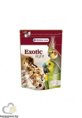 Versele Laga - Exotic Light за големи папагали с пуканки и зърна, 750 гр