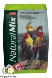 Padovan - Natural Mix Пълноценна храна за средни папагали, 25 кг.