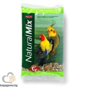 Padovan - Natural Mix Пълноценна храна за средно големи папагали, 850 гр.