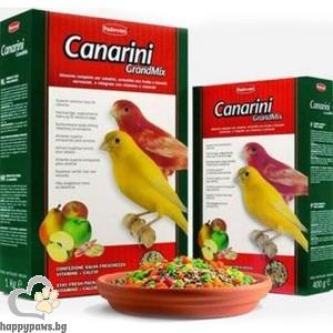 Padovan - GRAND MIX Пълноценна храна за канарчета с плодове, 400 гр.