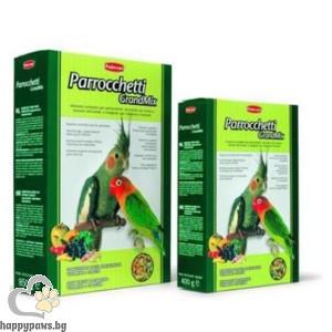 Padovan - GRAND MIX Пълноценна храна за средни папагали с плодове, 400 гр.
