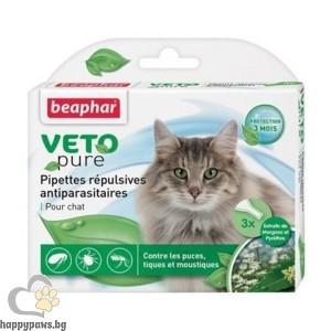 Beaphar Veto Pure Bio Spot On репелентни капки за котка, 3 бр