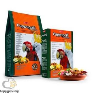 Padovan - GRAND MIX Пълноценна храна за големи папагали с плодове, 600 гр.