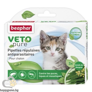 Beaphar Veto Pure Bio Spot On Kitten репелентни капки за малки котета