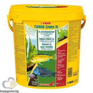 sera - Cichlid Green XL - храна със Спирулина за големи растителноядни риби, 1 л.