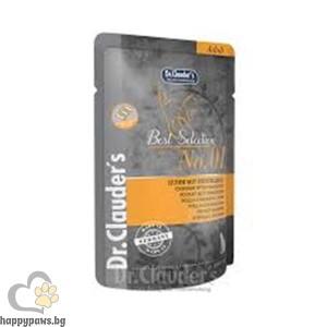 Dr. Clauder's Adults 1 Best Selection - Пауч за котки, 85 гр., Различни вкусове - Пиле и червена боровинка