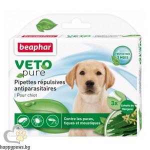 Beaphar Veto Pure Bio Spot On Puppy репелентни капки за малки кученца