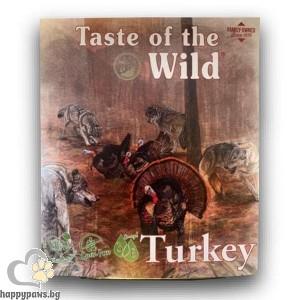 Терин за кучета с пуешко и патешко - Tаste of the wild Turkey & Duck dog tray, 390 гр.