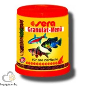 sera - Granulat Menu - храна за рибките от средните и дънните слоеве на аквариума, 150 гр.
