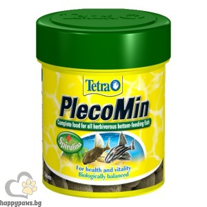 Tetra PlecoMin Таблетки за тропически рибки със спирулина алга - 120 бр.