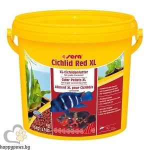 sera - Cichlid Red XL- основна храна за големи месоядни цихлиди, 1 л.