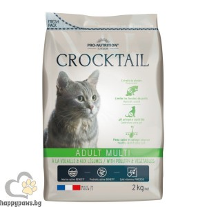 Flatazor - Crocktail ADULT MULTI - Poultry & Vegetables Пълноценна храна за пораснали котки, с месо от домашни птици и зеленчуци, различни разфасовки.