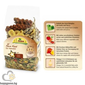 JR Farm - Пълноценна храна за хамстери, 500 гр.