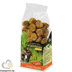 JR Farm - Беззърнена допълваща храна за гризачи моркови, 140 гр.