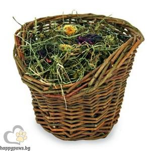 JR Farm - Върбова кошница със сено, 120 гр.