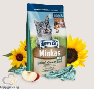 Премиум храна за котки Happy Cat Minkas - Микс с риба и пиле, 10 кг.