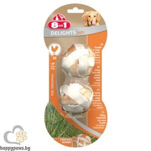 8in1 - Delight - лакомство дъвчащи топчета с пилешко месо - 2 бр.