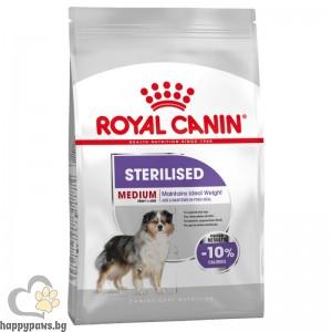 Royal Canin - Medium Sterilised суха храна за кастрирани кучета от средни породи, със склонност към натрупване на телесно тегло, над 12 месеца, 10 кг.