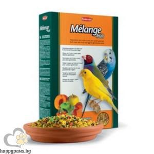 Padovan - Melange fruit Хранителна добавка обогатена с пчелен мед и плодове, за малки птички, 300 гр.