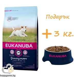 Eukanuba - SMALL BREED PUPPY & JUNIOR , храна за подрастващи кучета от дребни породи, различни разфасовки.