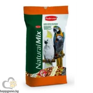 Padovan - Natural Mix Пълноценна храна за големи папагали, 18 кг.