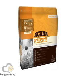 Acana - Puppy Large Breed Grain Free суха храна за малки кученца до 1 година от едри породи, 17 кг