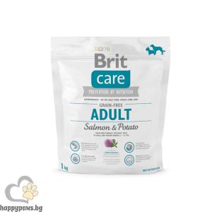 Brit - Care Grain Free Adult Salmon and Potato суха храна за кучета, над 12 месеца, от малки и средни породи, без глутен, със сьомга и картофи, различни разфасовки