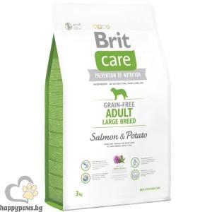 Brit - Care Grain Free Adult Large Salmon and Potato суха храна за кучета, над 12 месеца, от големи и гигантски породи, без глутен, със сьомга и картофи