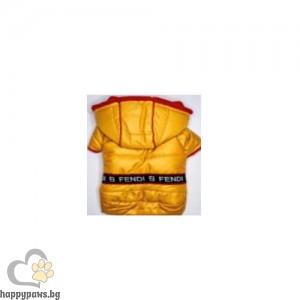 Жълто Яке Fendi с качулка, различни размери