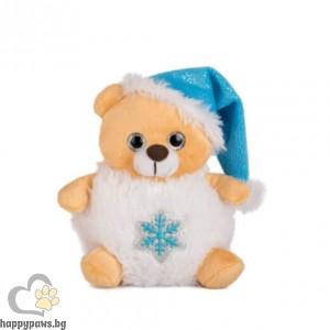 Коледна играчка мече със снежинка, 19 см