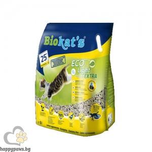 Biokat's ECO Light EXTRA - лека за носене и екологична котешка тоалетна, 5 л, 2.9 кг