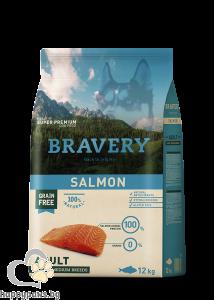 BRAVERY - Grain free adult medium and large breeds суха храна за израстнали кучета над 1 година от средни и едри породи, различни вкусове, 12 кг.