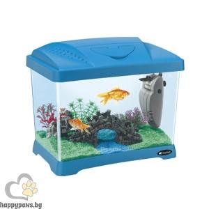 Ferplast - CAPRI JUNIOR аквариум, бял, син и зелен, 21 л, 41 Х 26,5 Х 34 см