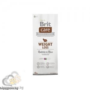 Brit - Care Weight Loss Rabbit and Rice суха храна за кучета над 12 месеца, за контрол на теглото, със заек и ориз, 12 кг.