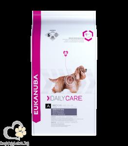Eukanuba - Daily Care Sensitive Skin балансирана ежедневна диета за кучета с чувствителна кожа, различни разфасовки.