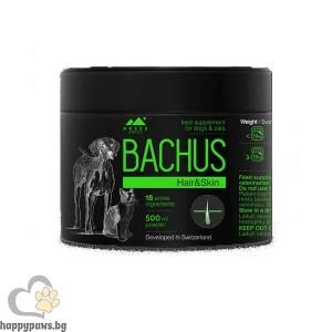 Bachus Hair & Skin Прах за кожа и козина на кучета и котки, 500 мл