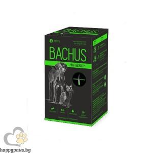 Bachus Hair & Skin Прах за кожа и козина на кучета и котки, 60 таблетки