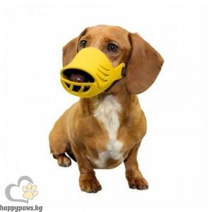 Artero Силиконов намордник за куче - жълт, различни размери