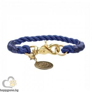 Hunter Нашийник - въже List в тъмно син цвят, различни размери