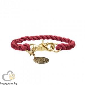 Hunter Нашийник - въже List в цвят бордо, различни размери